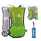TRIWONDER Hydration Pack Backpack 5L Marathoner Running Race Hydration Vest (Light Green)