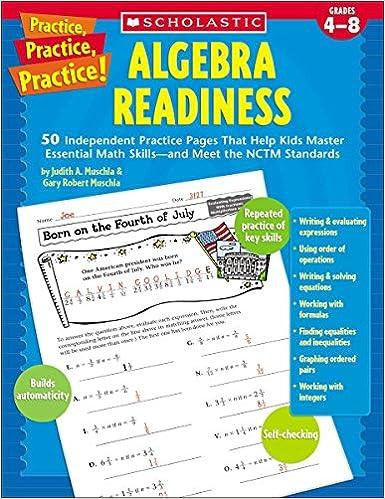 Practice Practice Algebra Readiness Grades 4