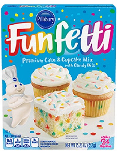 Funfetti Cake Mix Mini Cupcakes
