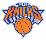 NBA New York Knicks Auto Badge Decal, hard thin plastic, 4.25x3.5 inches