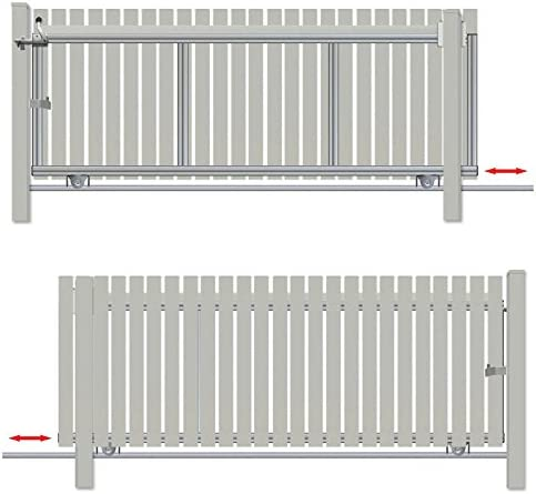 Bauer – Puerta corredera montar H=100, B=280, Plateado: Amazon ...