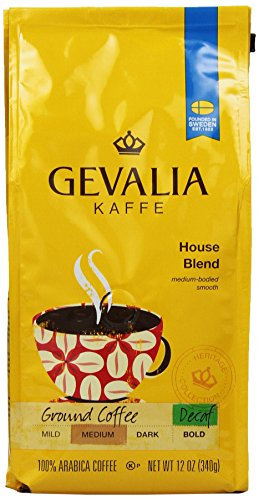 Gevalia Roast and Ground Coffee, House Blend Decaf, 12 Oz