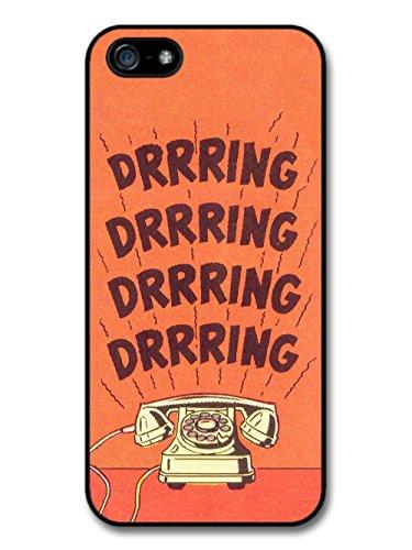 Retro Vintage Comic Book Telephone Ringing Design case for iPhone 5 5S