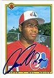 Autograph Warehouse 39223 Mel Rojas Autographed Baseball Card Montreal Expos 1990 Bowman No. 108