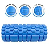 Dr. Health (TM) 13 Inch Deep Tissue Grid Yoga Fitness Massage Foam Roller (Blue)