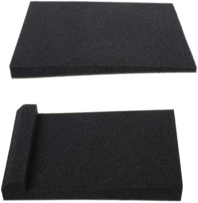 2 Pcs Sponge Studio Monitor Speaker Acoustic Isolation Foam Isolator Pads 30x20x4 5cm Amazon Co Uk Diy Tools