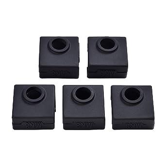 ET 5 piezas 3d impresora Heater Block cubierta de silicona ...