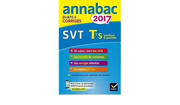 Annales Annabac 2017 SVT Tle S: sujets et corrigés du bac Terminale S: Amazon.es: Jacques Bergeron, Jean-Claude Hervé: Libros en idiomas extranjeros