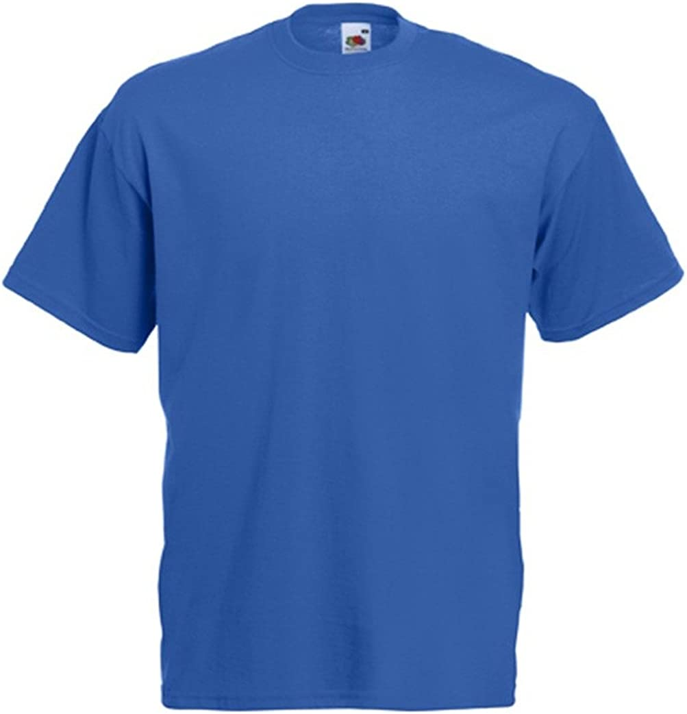 Fruit of the Loom Mens Plain Blue T-shirt Size XL