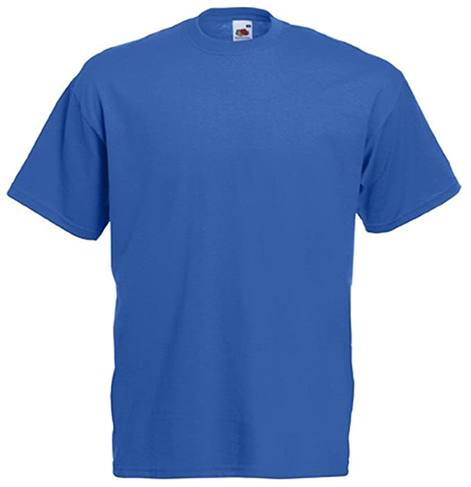 recognized brands shoes for cheap durable service Royal Blue T-Shirt Fruit of The Loom Plain Tee Apparel Clothing for him her
