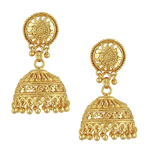Bodha 18k Gold Plated Traditional Indian Jhumka Earrings (SJ_34)