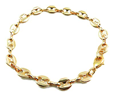 tendenze-ITALY Curb Chain Necklace 18ct Rose Gold Doublé 5.3mm/0.21