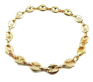 Nouveaux produits 9e0d9 fe33b Bracelet Chain Grain de Café or doublé 10/000, 7mm longueur ...