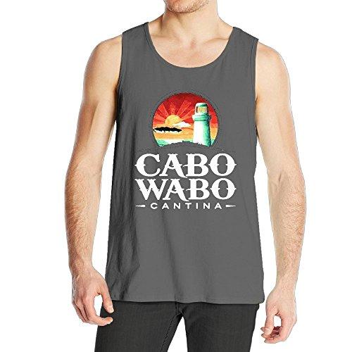 (Quliuwuda Men Cabo Wabo Casual Style Running DeepHeather Sleeveless Shirt M Tank Tops)