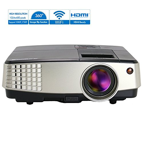 Pico Projector WiFi Wireless LCD Beamer Support 1080P for...