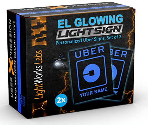 Personalized Uber Light Signs - Illuminated Glowing Custom LED Windshield ()