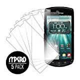 Kyocera Brigadier Screen Protector Cover, MPERO Collection 5-Pack of Ultra Clear Screen Protectors for Kyocera Brigadier