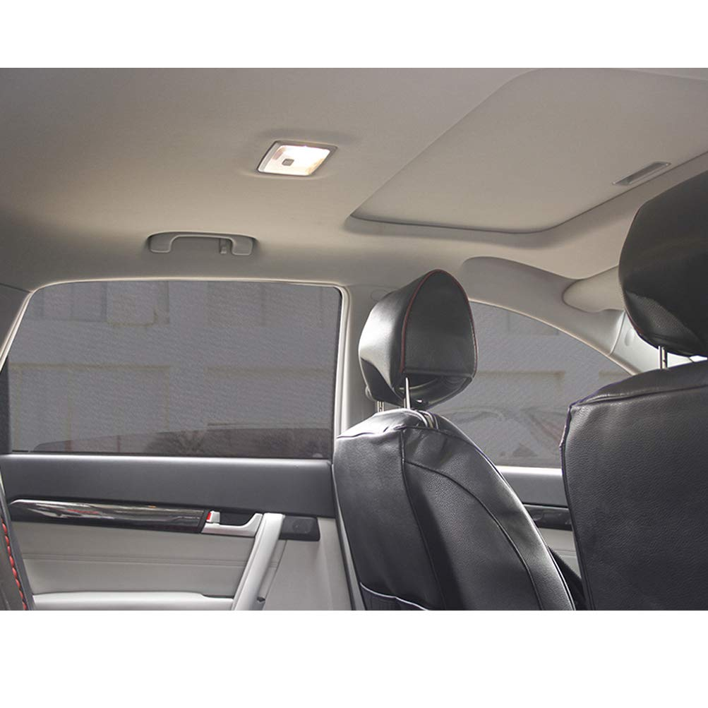 2 Pcs Back Mesh Black Sun Shades for Baby Women Men Foldable Upgraded Version of Magnetic Car Curtains ZATOOTO Side Window Sunshades for Car Mesh Back-2