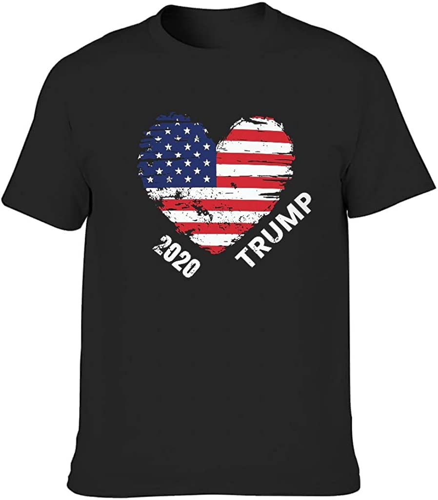Camiseta de corte clásico para hombre, diseño vintage de la bandera americana 2020 Vote