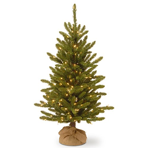(National Tree 4 Foot Kensington Burlap Tree with 150 Clear Lights (KNT3-306-40))