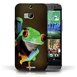 KOBALT? Protective Hard Back Phone Case / Cover for HTC One/1 M8 | Frog Design | Wildlife Animals Collection
