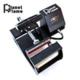 PlanetFlame Industrial-Quality CE 6-11oz Mug Heat Press Machine, Professional Digital Display Sublimation Printing Machine Heat Transfer Presses for Coffee Mug Cup (Black, 11oz)