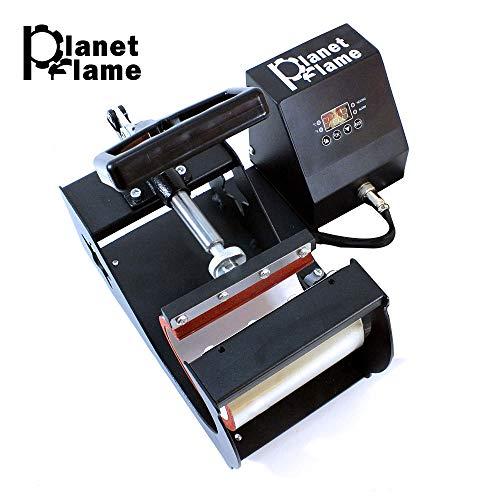 PlanetFlame Industrial-Quality CE 6-11oz Mug Heat Press Machine, Professional Digital Display Sublimation Printing Machine Heat Transfer Presses for Coffee Mug Cup (Black, 11oz) (Logo Oz 11 Mug)