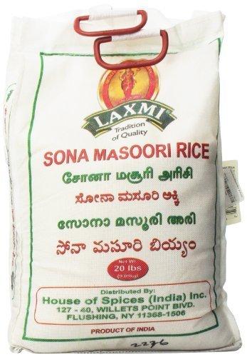 Laxmi Sona Masoori Rice, 20 Pound by Laxmi