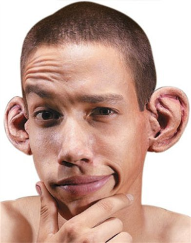 Hollywood Quality F/X Latex Wound Big Round Ears Prosthetics Kit]()
