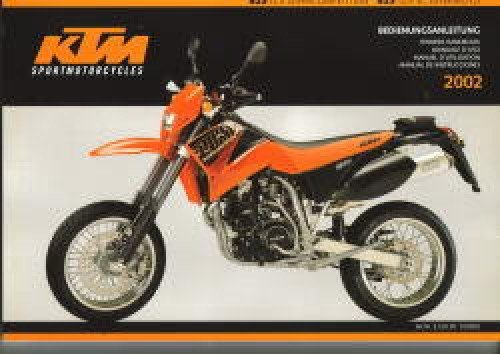 Download 321020 2002 KTM 625 LC4 Supercompetition 625 LC4 SC Supermoto Motorcycle Owners Handbook pdf