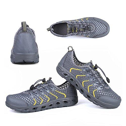 Aqua Beach Women's Quick Shoes Gray Water Men OUYAJI Shoes Running Hiking Men Drying 8w1ES0x