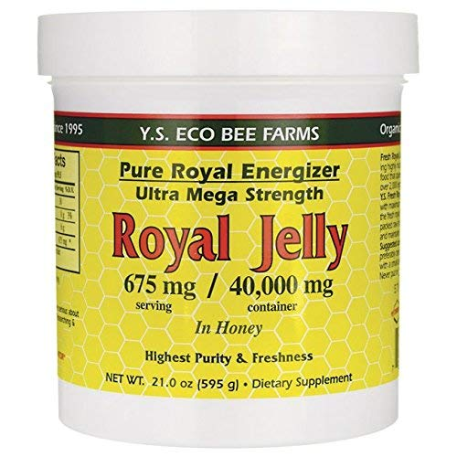 Fresh Royal Jelly - YS Royal Jelly/Honey Bee - Royal Jelly In Honey Ultra Strength, 21 oz gel