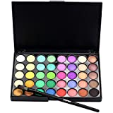 cream eyeshadow set - LandFox Cosmetic Matte Eyeshadow Cream Makeup Palette Shimmer Set 40 Color+ Brush Set