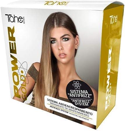 Tahe Tratamiento Capilar de Mantenimiento Power Gold Mask Pack Champú + Mascarilla + Reparador Para Todo Tipo de Cabellos con Oro Líquido y Queratina