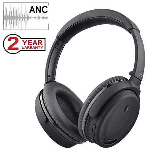 Avantree Active Noise Cancelling Bluetooth 4.1 Headphones with Mic, Wireless/Wired Super Comfortable Foldable Stereo ANC Over Ear Headset, Low Latency for TV PC Gaming Phone – ANC032 [24M Warranty]