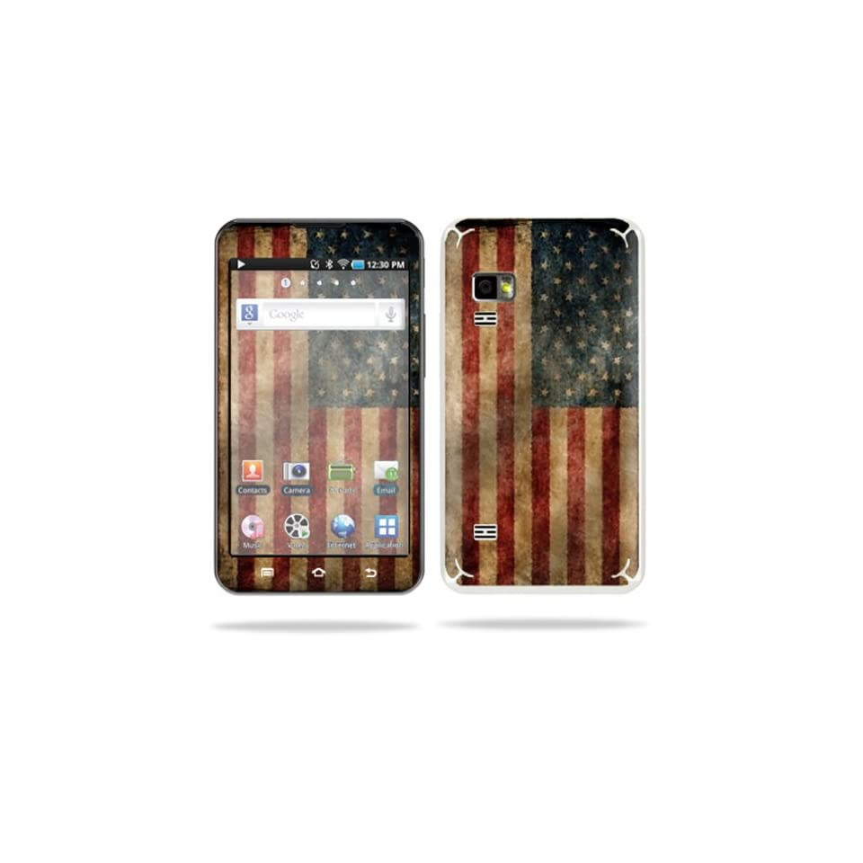MightySkins Protective Vinyl Skin Decal Cover for Samsung Galaxy Player 5.0  Player Android WiFi Sticker Skins Vintage Flag  Players & Accessories