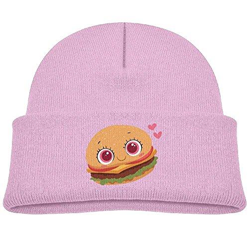 Pink Seattle Mariners Sweatshirt (Tongbu Cute Burger Cartoon Kids Winter Warm Knitted Hat Fashion Wool Caps Beanie children Girls Boys Knit Cap Pink)