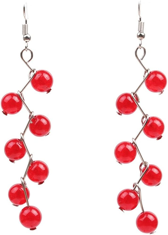 WUSUANED 7 Chakra Healing Energy Balancing Long Dangle Hook Earrings Yoga Jewelry Meditation Gift for Women Girls