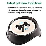 Pet Dog Slow Feeder Bowls Interactive BestSl Fun Bowl - Bone Shaped Rotating Anti-Choke Slow Eating- Healthy Design Eating Water Bowl