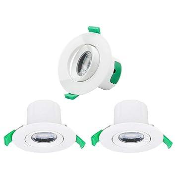 Enuotek Lamparas LED Focos Plafones de Empotrables Techo Downlight LED Ajustable 7W Luz Fria 5000K 600Lm Agujero de Techo 70-75M Dirección de Iluminación ...