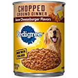 Pedigree Chopped Ground Dinner Bacon Cheeseburger Flavors Adult Canned Wet Dog Food, (12) 13.2 Oz. Cans Larger Image