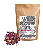 Dried Red Roses, 100% Natural Dried Rose Flowers For Homemade Tea Blends, Potpourri, Bath Salts, Gifts, Crafts, Wild Flower #11 (4 ounce)