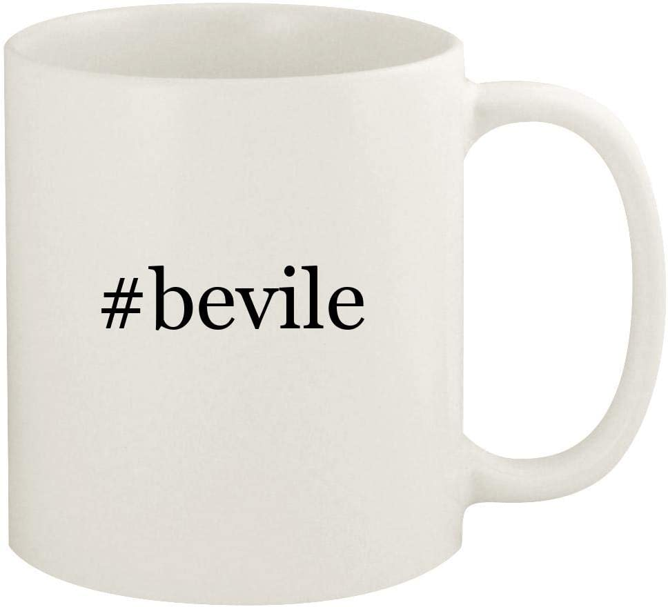 #bevile - 11oz Hashtag Ceramic White Coffee Mug Cup, White