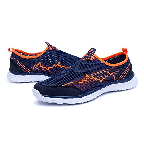 Black Dark Slip Outdoor Pool Mens Waterproof Swimming Womens Barefoot Blue Sandals Beach Breathable Drying Summer Water Quick 11 on Couple Aqua Trainers Mesh Sports 3 Shoes w6w1cqSH7