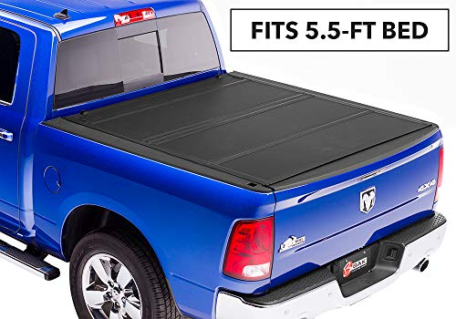 Cab Folding Bakflip Tonneau Cover - BAKFlip MX4  Hard Folding Truck Bed Tonneau Cover | 448207 | fits 2009-19 Dodge Ram W/O Ram Box 5' 7