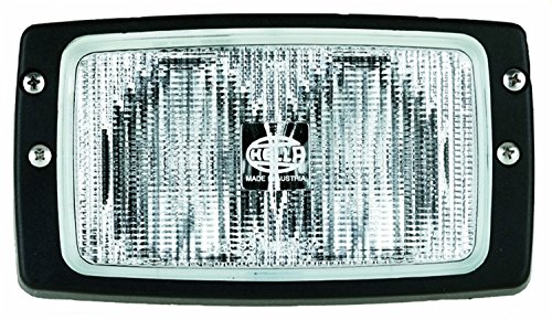 HELLA H15213021 Module 6213 Series 55 Watt 12-36 V Heavy Duty H3 Type Close Range Halogen Double Beam Flush Mount Work Lamp (Flush Type 55)
