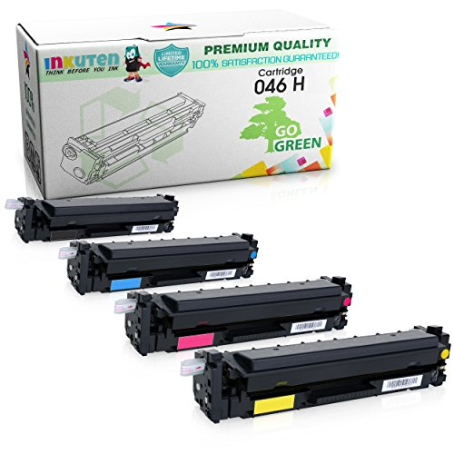 INKUTEN Replacement for Canon 046 Toner Cartridge for use with Canon ImageClass MF735Cdw MF733Cdw MF731Cdw High Yield 4 Pack -  TMP-A2060