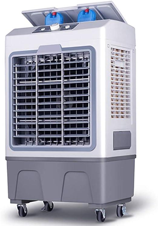 WUSTEGCCF Climatizador Evaporativo Silencioso,Refrigerador De Aire MóVil Refrigerado por Agua, Ventilador De Aire Acondicionado DoméStico, Enfriador De Aire Evaporativo 3 En 1,Grey: Amazon.es: Hogar