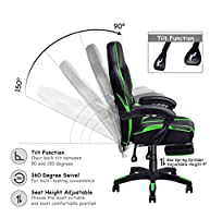 Giantex Gaming Chair Racing Chair Ergonomic High-Back with Footrest and Lumbar Support Adjusting Swivel Executive Office Chair by Giantex