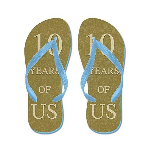 a5a95ecf2c58 CafePress - 10Th Wedding Anniversary - Flip Flops
